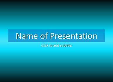 Darkly blue Free PowerPoint Template