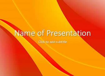 Orange and red Free PowerPoint Template