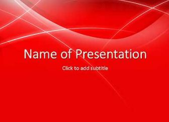 Red template with white lines Free PowerPoint Template