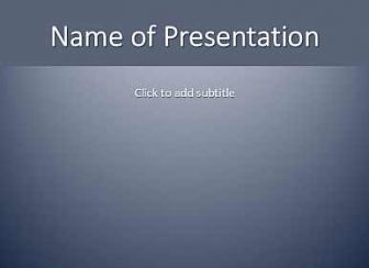 Grey gradient Free PowerPoint Template