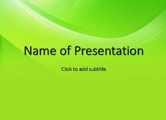 Green gradient Free PowerPoint Template