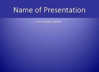 Blue gradient Free PowerPoint Template