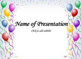 Happy Birthday Balloons Free PowerPoint Template