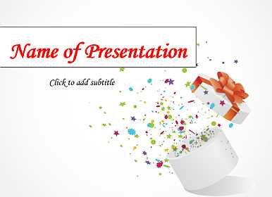 Gift Free Birthday Powerpoint Template