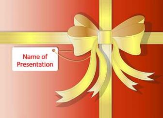 Gift Bow Free PowerPoint Template