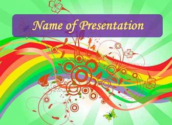 Rainbow Free PowerPoint Template