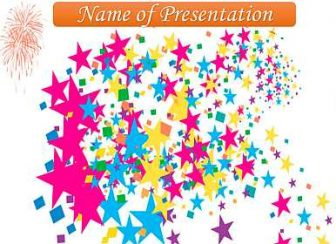 Multicolored stars Free PowerPoint Template