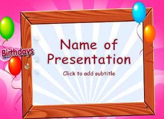 Happy Birthday Frame Free PowerPoint Template