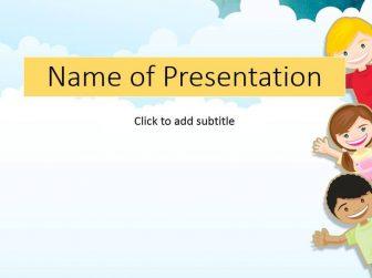 Children Free PowerPoint Template