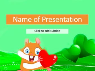A funny hamster free kids powerpoint templates template for children with a hamster this theme it is intended for presentations in kindergarten or in primary school with this theme you can create an toneelgroepblik Gallery