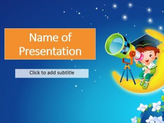 Astronomy Kids Template For Presentation Powerpoint Free