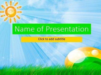 A sun and grass Free PowerPoint Template