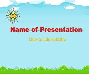 Animated Sun Free PowerPoint Template