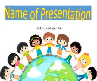multicultural kids around the world powerpoint templates