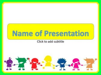 Happy Children Free PowerPoint Template
