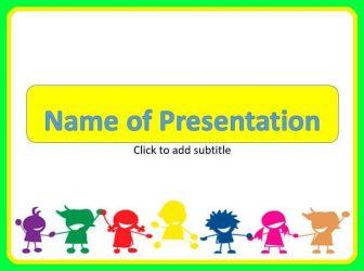 Happy Children Free PowerPoint Template