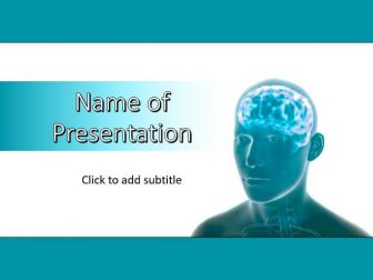 human brain power point template free download