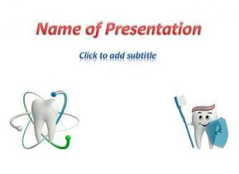 Healthy teeth Free PowerPoint Template