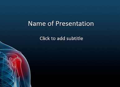 Medical Powerpoint Template On A Subject Arthritis And