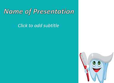 Teeth, toothpastes and brush Free PowerPoint Template