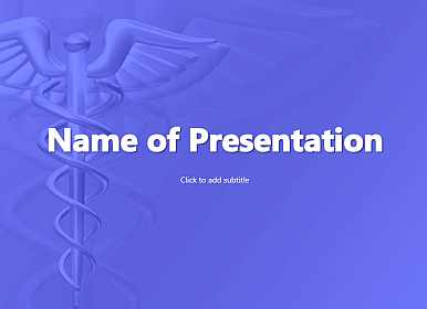 Medicine symbol Free PowerPoint Template