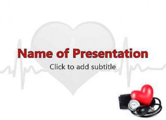 Arterial pressure Free PowerPoint Template