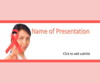 Cancer And Hiv Free PowerPoint Template