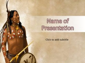 Native american powerpoint template free ppt pptx native american powerpoint template native american toneelgroepblik Images