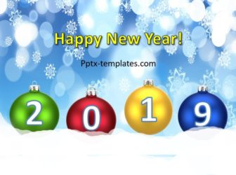 New Year 2019 – Christmas Balls Free PowerPoint Template