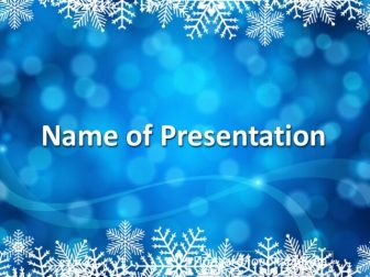 Snowflakes Free PowerPoint Template