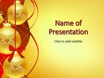 Christmas Balls Free PowerPoint Template