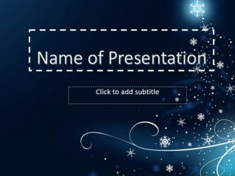 Winter tenderness Free PowerPoint Template