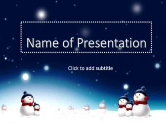 Snowman Free PowerPoint Template