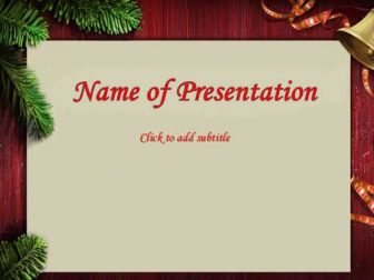 New Year Postcard Free PowerPoint Template