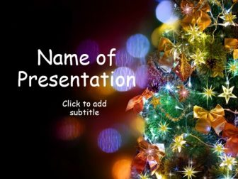 Animated template with blinking stars Free PowerPoint Template