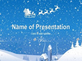 New Year snow, with animation Free PowerPoint Template