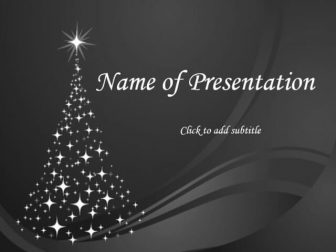 Christmas Tree Free PowerPoint Template