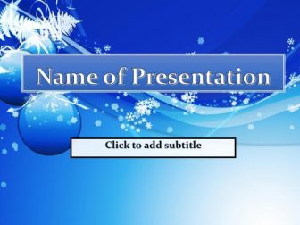 Blue New Year Background Free PowerPoint Template
