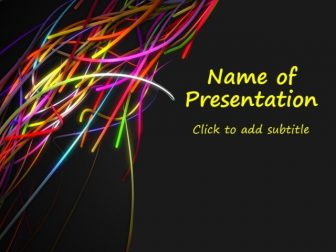 Festive ribbons Free PowerPoint Template