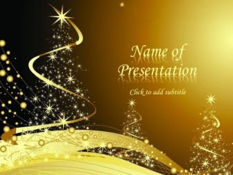 New Year Theme Of Powerpoint With A Gold Background And New