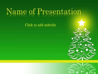 New Year tree Free PowerPoint Template