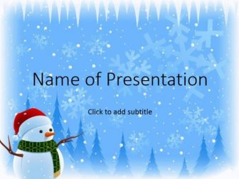 Animated background with falling snow Free PowerPoint Template