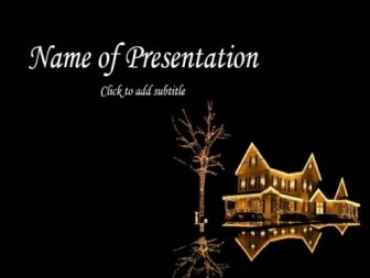 Fairy-tale new-year house Free PowerPoint Template