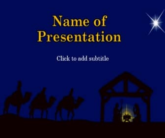 O Holy Night Free PowerPoint Template