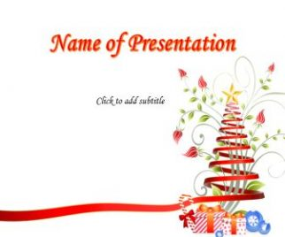 Free Christmas Tree Free PowerPoint Template
