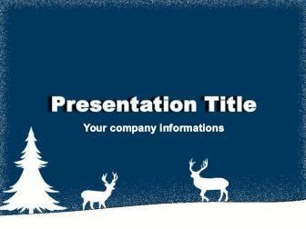 Christmas Deers Free PowerPoint Template