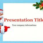 Santa Claus and Christmas tree branch