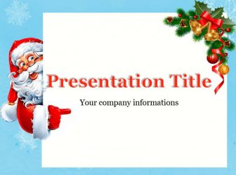 Santa Claus and Christmas tree branch Free PowerPoint Template