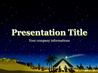 The Nativity Of Jesus Powerpoint Template For Presentation