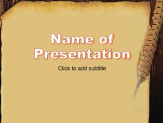 Old book and quill Free PowerPoint Template
